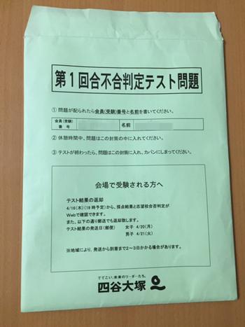 2015年第1回四谷大塚合不合判定テスト